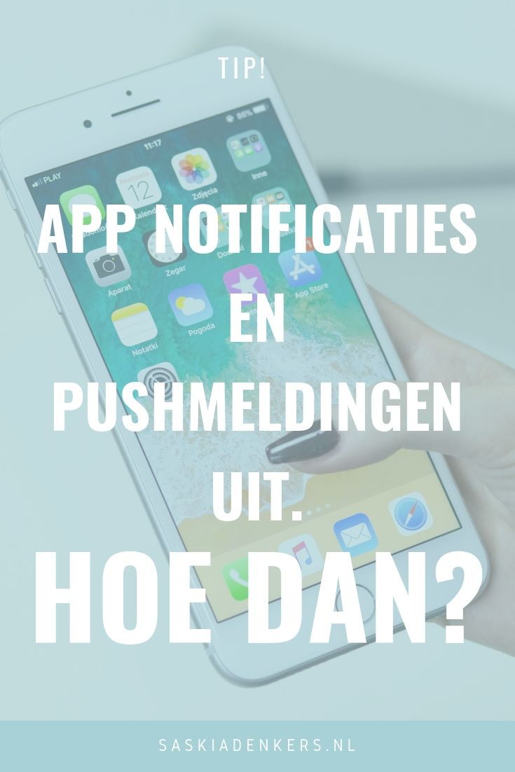 App notificaties en pushmeldingen uit