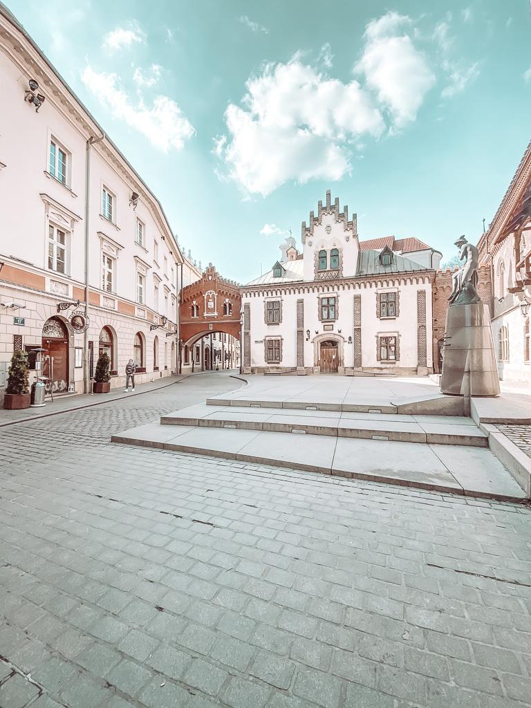 Een van de vele mooie historische straatjes in Krakau